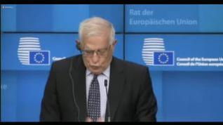 "Borrell transmite a Sánchez ""plena solidaridad europea a España"" por la crisis migratoria de Ceuta"