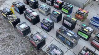 La Guardia Civil desarticula un grupo criminal dedicado al robo de baterías