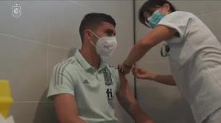La selección española de fútbol ya está vacunada