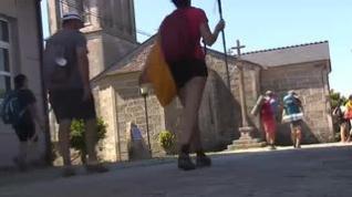 Ocho peregrinos confinados con covid en un albergue de Palas del Rei, en Lugo