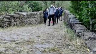 La Policía Nacional recorre el tramo Somport-Jaca apoyando la campaña 'Protegemos el Camino: Año jubilar 2021-2022'