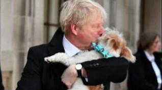 El perro de Boris Johnson acapara la atención en un acto oficial