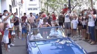 Euforia en Baza (Granada) con la llegada del medallista olímpico David Valero