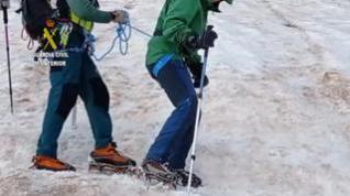 Rescate en el Aneto de tres excursionistas sorprendidos por una tormenta