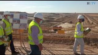 Las obras del embalse de Almudévar superan el 70% de ejecución