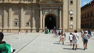 De camping en Caspe o de visita con el AVE, así son los pocos extranjeros que llegan a Zaragoza