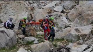 Rescatan a un montañero de 53 años de San Sebastián con una fractura de tobillo en el pico Balaitus