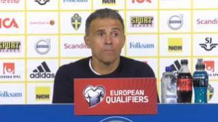 """Luis Enrique considera tras perder contra Suecia que el partido """"no ha sido malo"""""""
