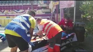 Simulacro de accidente en el Parque de Atracciones de Zaragoza
