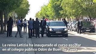 La reina Letizia preside en Zuera la inauguración oficial del curso escolar
