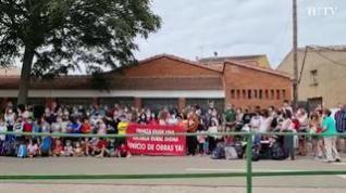 Protesta en Paniza para pedir el inicio de las obras del colegio