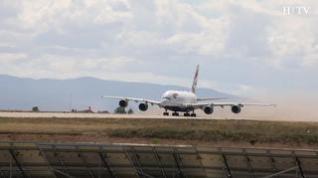 Primer despegue del Airbus A380 del Aeropuerto de Teruel
