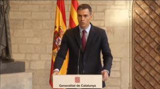 Sánchez ve posturas alejadas con Aragonès pero dialogarán sin pausa ni plazos