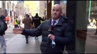 Agresión en directo a un reportero de informativos en Melbourne