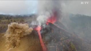 Esta es la evolución del volcán de La Palma desde que entró en erupción