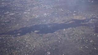 Los daños causados por la erupción del volcán de La Palma, desde el aire