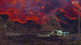 La lava del volcán de La Palma aproxima al mar