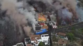 El volcán de La Palma continúa destrozando Todoque