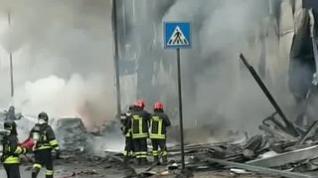 Fallecen ocho personas en un accidente aéreo en las afueras de Milán