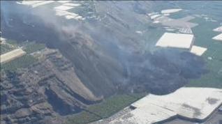 Los expertos advierten de un posible derrumbe del primer delta formado por la colada del volcán