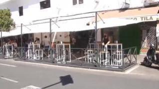 Reclaman a los ayuntamientos la retirada de las llamadas terrazas COVID