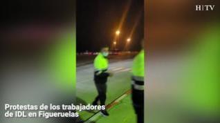 Protestas de los trabajadores de IDL en Figueruelas
