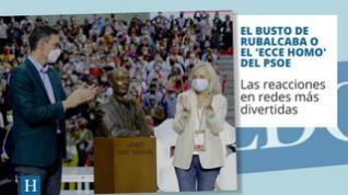 El busto de Rubalcaba se convierte en el 'Ecce homo' particular del PSOE