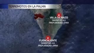 Dos terremotos de magnitud 4,5 sacuden La Palma mientras la lava está a escasos metros del mar