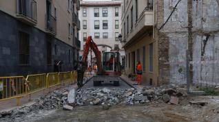 Comienza la reforma de la calle Predicadores en Zaragoza