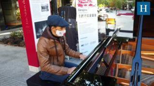 El centro de Zaragoza se llena de pianos