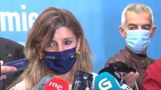 """Yolanda Díaz admite que el Gobierno de coalición vive un momento """"delicado"""""""