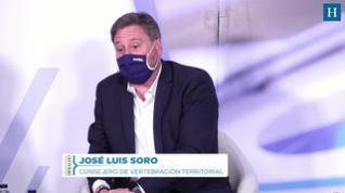 El consejero de Vertebración de la DGA, José Luis Soro, hace una reflexión sobre Canfranc