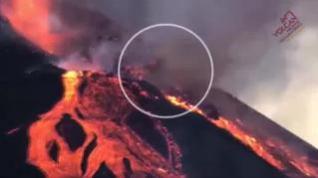 Colapso del cono del volcán de La Palma
