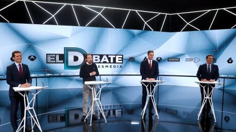 Los candidatos a la presidencia del Gobierno en el debate de Atresmedia