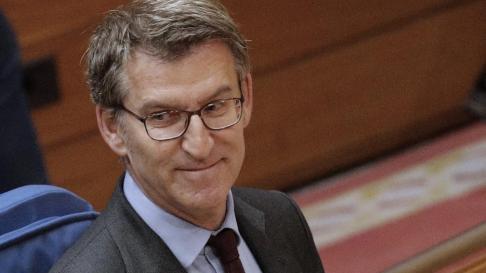 Feijóo, en el Parlamento de Galicia.