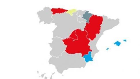 Mapa de las elecciones autonómicas en España