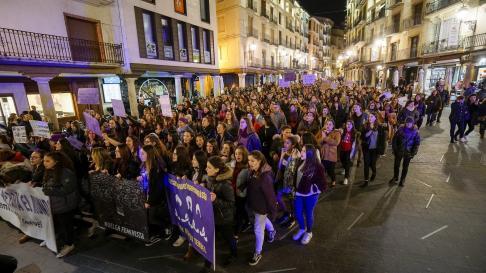 La manifestación de Teruel.