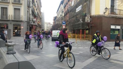'Bicipiquete' por las calles de Huesca