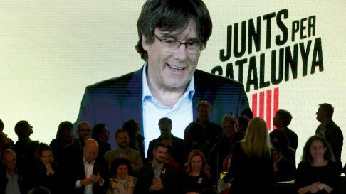 Acto electoral de JxCat.