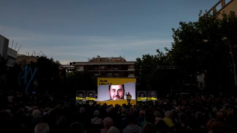 Acto electoral del cierre de campaña de ERC en Badalona.
