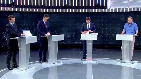 Debate electoral a cuatro en RTVE.