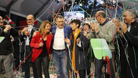 Final de campaña del PNV en el País Vasco.