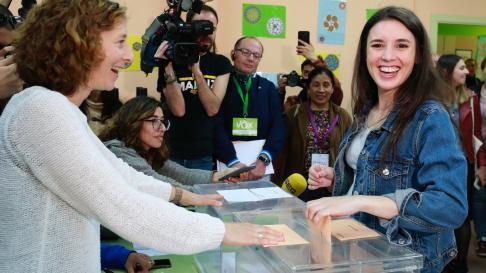 Irene Montero, candidata de Unidas Podemos al Congreso de los Diputados