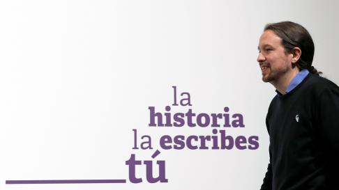 Pablo Iglesias tiende la mano al PSOE en sus declaraciones tras conocer los resultados electorales.
