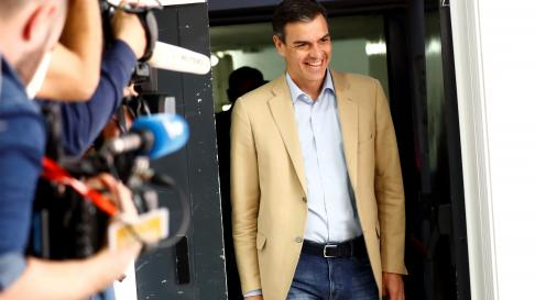 Pedro Sánchez, este lunes en Ferraz