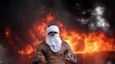 Alzamiento contra el régimen de Maduro en Venezuela