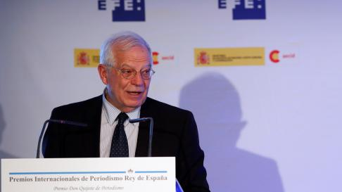 El ministro de Asuntos Exteriores, UE y Cooperación, Josep Borrell,