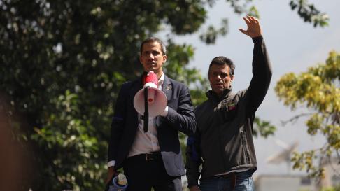 Juan Guaidó y Leopoldo López.