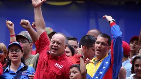Jorge Arreaza y Diosdado Cabello, en Venezuela.