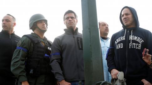 Venezuela, Leopoldo López, Juan Guaidó, militares venezolanos, base aérea La Carlota Caracas